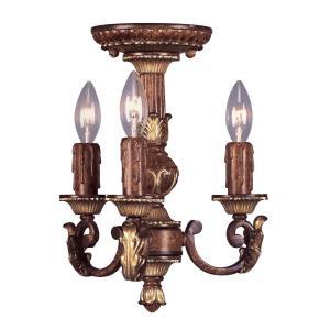 Villa Verona - 3 Light Mini Chandelier in Villa Verona Style - 11.25 Inches wide by 13 Inches high
