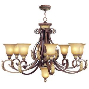Villa Verona - 9 Light Chandelier in Villa Verona Style - 40 Inches wide by 30.5 Inches high