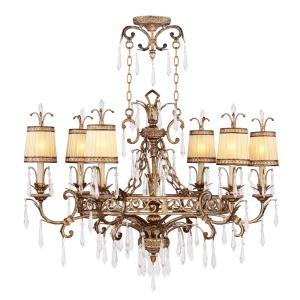 La Bella - 6 Light Chandelier in La Bella Style - 25 Inches wide by 32 Inches high