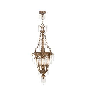 La Bella - 4 Light Foyer in La Bella Style - 18 Inches wide by 48 Inches high
