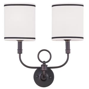 Two Light Oval Wall Sconce