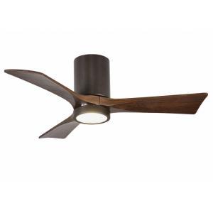 "Irene-3HLK - 42"" Flushmount Paddle Ceiling Fan with Light Kit"
