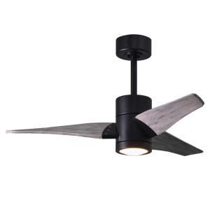 "Super Janet - 42"" Paddle Fan with Light Kit Matte Black"