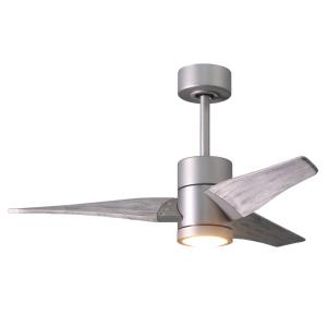 "Super Janet - 42"" Paddle Fan with Light Kit Brushed Nickel"