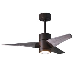 "Super Janet - 42"" Paddle Fan with Light Kit Textured Bronze"