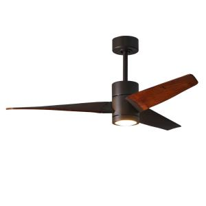 "Super Janet - 52"" Paddle Fan with Light Kit Textured Bronze"
