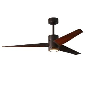 "Super Janet - 60"" Paddle Fan with Light Kit Textured Bronze"