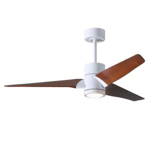 "Super Janet - 52"" Paddle Fan with Light Kit Gloss White"