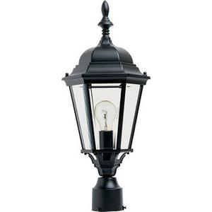 Westlake-One Light Outdoor Pole/Post Lantern in Mediterranean style-9.5 Inches wide by 21 inches high