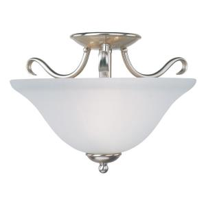 Basix-2 Light Semi-Flush Mount in Contemporary style-14 Inches wide by 10 inches high