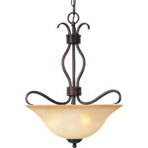 Basix-Three Light Invert Bowl Pendant in Contemporary style