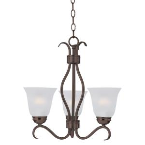 Basix-3 Light Mini Chandelier in Contemporary style-15.75 Inches wide by 18.5 inches high