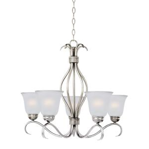 Basix-5 Light Chandelier in Contemporary style-26 Inches wide by 23.5 inches high