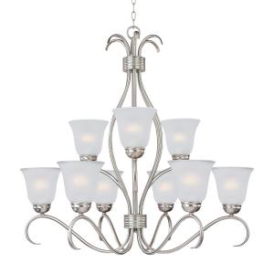 Basix-9 Light 2-Tier Chandelier in Contemporary style-32 Inches wide by 32.75 inches high