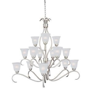 Basix-15 Light 3-Tier Chandelier in Contemporary style-42 Inches wide by 40 inches high