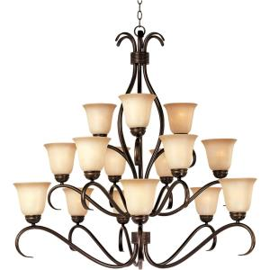 Basix - Fifteen Light 3-Tier Chandelier