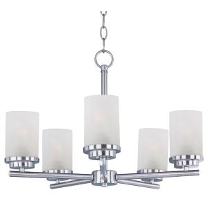 Corona-Five Light Chandelier in Contemporary style-22 Inches wide by 19 inches high