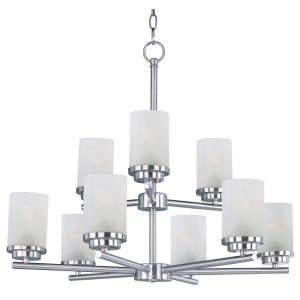 Corona-Nine Light Chandelier in Contemporary style-28 Inches wide by 23 inches high