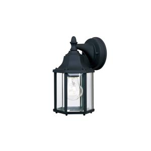 Builder Cast-One Light Outdoor Wall Mount in Early American style-5.5 Inches wide by 10 inches high