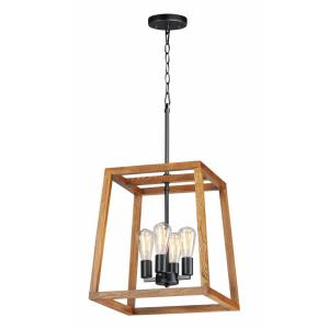 Black Forest-Four Light Chandelier-16.5 Inches wide by 31 inches high