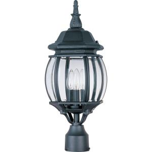 Crown Hill-Three Light Outdoor Post Mount in Early American style-8 Inches wide by 21 inches high
