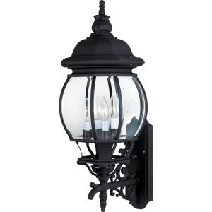 Crown Hill-4 Light Outdoor Wall Lantern in Early American style-11 Inches wide by 28.5 inches high