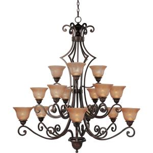 Symphony-15 Light 3-Tier Chandelier in Mediterranean style-49 Inches wide by 51 inches high