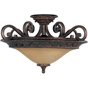 Symphony - 3 Light Semi-Flush Mount
