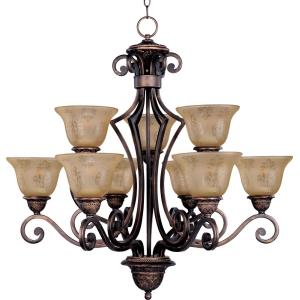 Symphony - 9 Light 2-Tier Chandelier - 32 Inches wide by 32 inches high