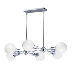 Molecule-6 Light Linear Pendant-25 Inches wide by 4.75 inches high