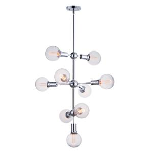 Molecule-31.5W 9 LED Entry Foyer Pendant-27 Inches wide by 33 inches high