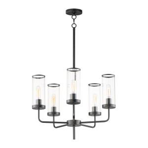 Crosby-5 Light Chandelier-24 Inches wide by 24.5 inches high