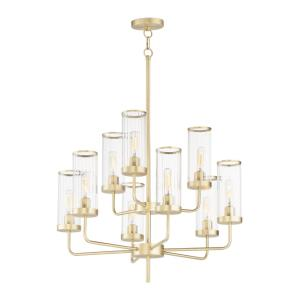 Crosby-9 Light Chandelier-28 Inches wide by 31 inches high
