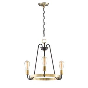 Haven-Three Light Chandelier-18.5 Inches wide by 18.5 inches high