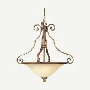 La Scalla - Three Light Inverted Bowl Pendant