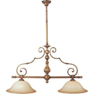 La Scalla-Two Light Island in European style-16 Inches wide by 37 inches high