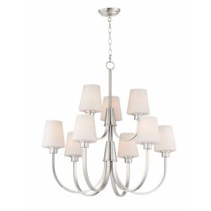 Shelter-9 Light Chandelier-30 Inches wide by 35 inches high