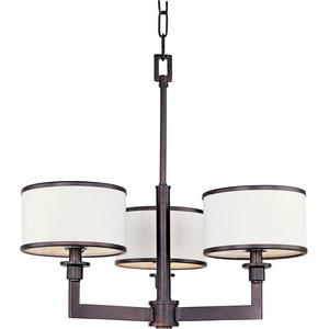 Nexus-Three Light Chandelier in Contemporary style-21 Inches wide by 19.25 inches high