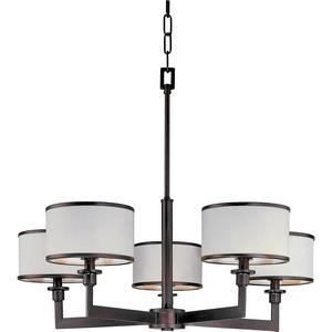 Nexus-Five Light Chandelier in Contemporary style-27.75 Inches wide by 22.75 inches high