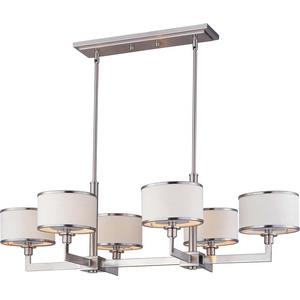 Nexus-Six Light Chandelier in Contemporary style-21.25 Inches wide by 11.75 inches high
