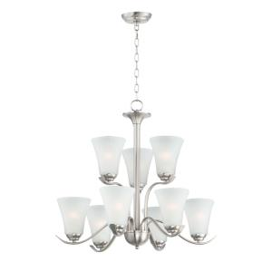 Vital-9 Light Chandelier-26 Inches wide by 25 inches high
