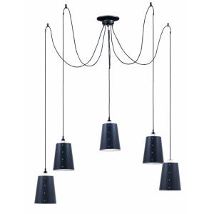 Swagger-Five Light Pendant-21.5 Inches wide by 3.75 inches high