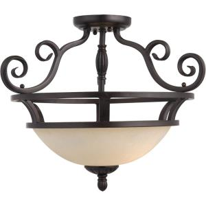 Manor - Two Light Semi-Flush Mount