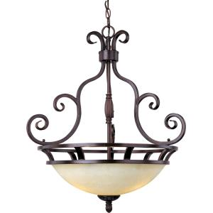 Manor - 3 Light Invert Bowl Pendant - 23 Inches wide by 26.5 inches high