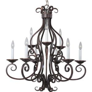 Manor - Nine Light 2-Tier Chandelier