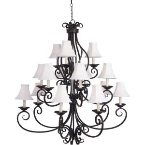 Manor - Fifteen Light 3-Tier Chandelier