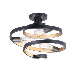 Twister-3 Light Semi-Flush Mount-16 Inches wide by 13 inches high