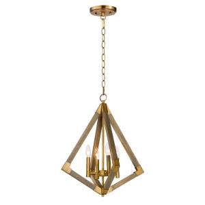 "Vector - 19.25"" Four Light Pendant"