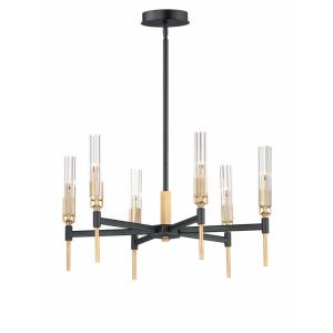 Flambeau-10.8W 6 LED Chandelier-24.75 Inches wide by 14 inches high