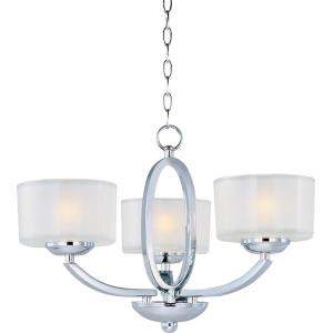 Elle-Three Light Convertible Semi-Flush Mount/Chandelier in Contemporary style-17 Inches wide by 11 inches high